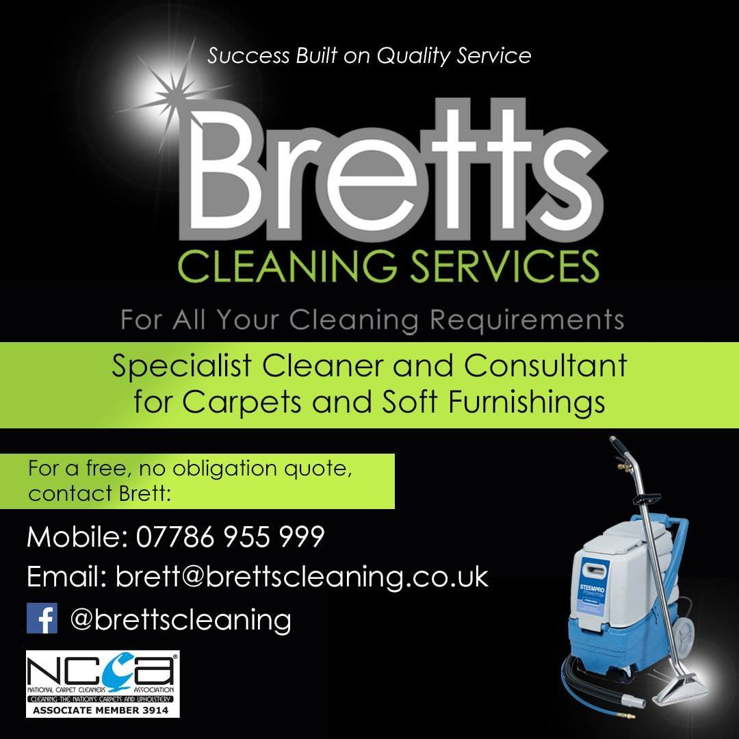 bretts cleaning services advert